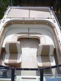 Thinking of a seating rearrangement for my boat. Page: 1 - iboats Boating Forums Wooden Speed Boats, Wooden Boats, Pontoon Boat Seats, Boat Dock, Boat Upholstery, Sport Yacht, Sailboat Interior, Boat Restoration, Yacht Builders