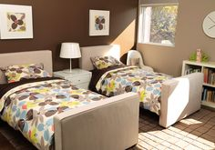 Monte Design Modern Nursery Furniture - upholstered twin bed stone shown.