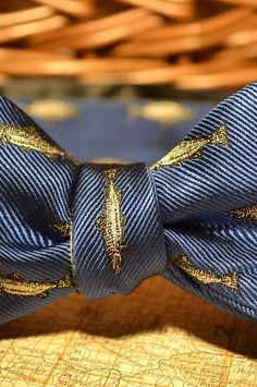 Buffalo Jackson Deep Blue Trout Bow Tie