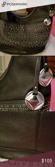1febcc64ccd4 Calvin Klein black studded hobo Gorgeous!!!! Studded Calvin Klein hobo.  Large