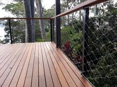A beautiful Webnet balustrade detailed and installed by Tensile Design & Construct