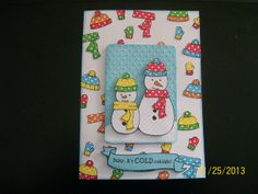 Lawn Fawn - Making Frosty Friends, Bannerific, Stitched Journaling Card Lawn Cuts die _ Can you really have too many polka dots? We think not! We love Dena's Polka Dot Snowmen Card, her clever background is amazing! | Flickr - Photo Sharing!