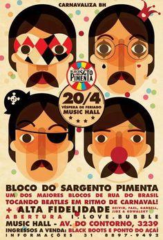 Cartaz do Bloco do Sgto. Pimenta.  Via: https://www.facebook.com/tomasdias