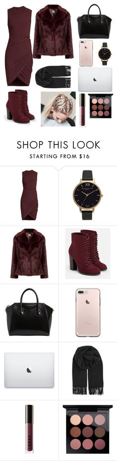 """""""Going to work outfit"""" by suha123 ❤ liked on Polyvore featuring Alexander Wang, Olivia Burton, JustFab, Givenchy, BeckSöndergaard, LORAC and MAC Cosmetics"""