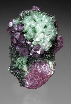 Cuprite on dolomite with malachite