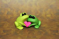 Miniature Clay Valentine's Love Frogs by ClayCrittersByLiza, $35.00