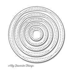 My Favorite Things - Die-Namics - STAX Dies - Wonky Stitched Circle at Scrapbook.com