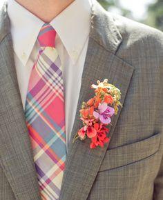 Bright Tie | Carlie Statsky Photography | blog.theknot.com