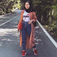 2019 Beautiful and Stunning Hijab Outfits – Hijab Fashion Modern Hijab Fashion, Hijab Fashion Inspiration, Muslim Fashion, Modest Fashion, Trendy Fashion, Hijab Fashion Summer, Casual Hijab Outfit, Hijab Chic, Ootd Hijab