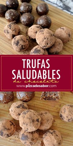 Trufas saludables de chocolate - Kettle Tutorial and Ideas Easy Cookie Recipes, Sweets Recipes, Healthy Desserts, Healthy Cooking, Healthy Recipes, Cheese Crisps, Pizza Cheese, Healthy Family Dinners, Healthy Chocolate