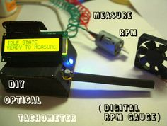 Measure RPM - an optical tachometer ---- HEY HEY!!!  For more COOL ARDUINO stuff, check out http://arduinohq.com