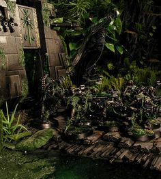 Dark Future Games: It Came From the Forums: Swamp Necrons and Renegade Kroot from Marco Schulze! Necron Army, Future Games, 40k Terrain, Far Future, Warhammer 40k Miniatures, The Grim, Middle Earth, Colour Schemes, Minis