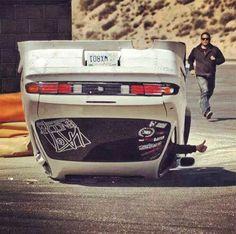 S14 Drift Crash so sad :(