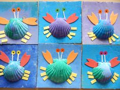 Le crabe, PS (Nathaliell) Sea Activities, Preschool Learning Activities, Preschool Themes, Beach Crafts, Fun Crafts, Diy And Crafts, Summer Crafts For Kids, Art For Kids, Crab Crafts