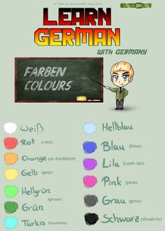 Learn German - Colours by TaNa-Jo on DeviantArt