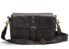 ONA - Dark Truffle leather The Leather Bowery Camera Bag and Insert