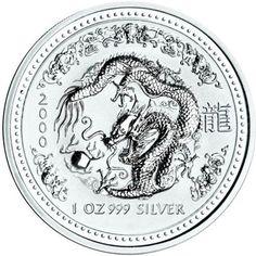 2000 series 1 - Australian Silver Lunar Dragon Bullion Coin