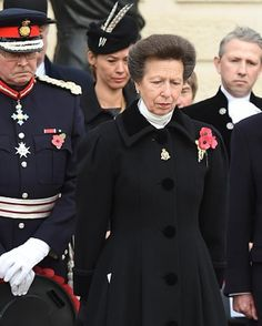 Royal Family Around the World: Princess Anne, Princess Royal, attends the Annual Service Of Remembrance For Armistice Day at the Armed Forces Memorial on November 11, 2015 in Alrewas, UK.