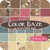 Color Daze Prints Fat Eighth Bundle Reservation<BR>Laundry Basket Quilts for Moda Fabrics