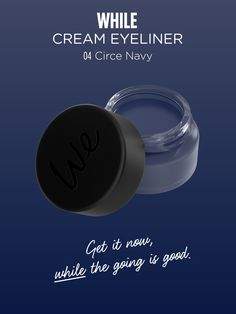 WHILE | Cream Eyeliner in Circe Navy  Discover more on http://wemakeup.it/#WHILE_cream_eyeliner