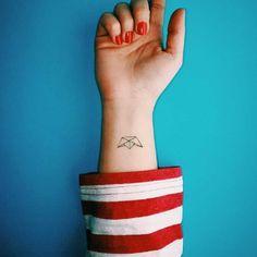 The Paper Boat  #tattoo #tattoos #paperboat #paperboattattoo #minimal #minimalism #minimalist #inked #ink #tattoodrawing #tattoodesign