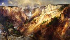 Grand Canyon of the Yellowstone by Thomas Moran hangs today in the Smithsonian