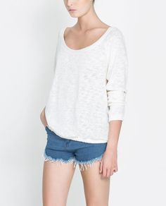 FINE KNIT SWEATER - T - shirts - TRF - New collection | ZARA United States