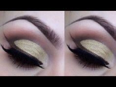 Gold Round Eyeshadow Cut Crease Tutorial | AmazingMakeups.com