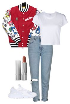 """#85"" by laurine-darcy on Polyvore featuring mode, Topshop, RE/DONE et NIKE"