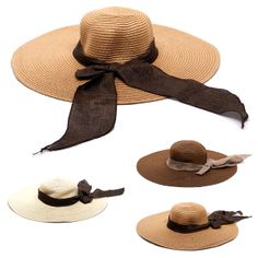 Suitable for: Lady; Size: One Size; Fit Head Girth: 60cm/ 23 5/8inches Features removable self tie bowknot, this straw hat looks fashionable. Size Type: Regular; Material: Straw Breathable design enable you to wear it comfortable. Size: 14.5cm/ 5 5/8inches Depth: 12cm/ 4 5/8inches A pretty and fashion accessories to protest you from sun damaging and UV rays.