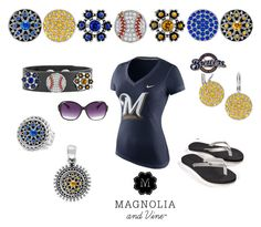 """""""Hey Milwaukee Brewers and Magnolia & Vine Fans!"""" by maria-magnolia-and-vine on Polyvore featuring NIKE"""