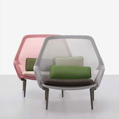Slow Chair & Ottoman Pink by Vitra