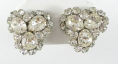 Eisenberg Vintage Signed Rhinestone Earrings | eBay