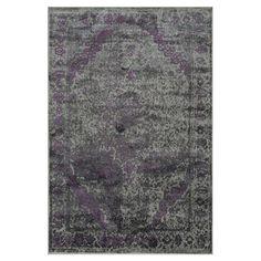 Camelia Rug in Pewter & Purple