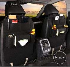 Kayme Linen Car Seat Covers Seats Cushion For Front Back Chair A Three Piece 5 Colors Small Squares Type