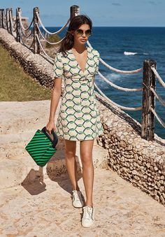 graphic print summer dress
