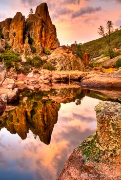 bear gulch at pinnacles national monument