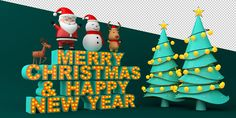 MERRY CHRISTMAS & HAPPY NEW YEAR on Behance New Year Illustration, Graphic Design Illustration, Merry Christmas And Happy New Year, 3ds Max, Behance, Art, Art Background, Kunst, Performing Arts