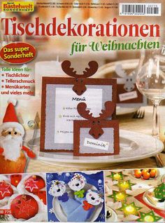Bastelwelt - Tischdekorationen für Weihnachten - Muscaria Amanita - Picasa Webalbumok Christmas Crafts, Christmas Decorations, Free Magazines, Paper Decorations, Gingerbread Cookies, Paper Cutting, Crafts To Make, Advent, Origami
