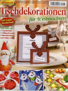 Bastelwelt - Tischdekorationen für Weihnachten - Muscaria Amanita - Picasa Webalbumok
