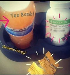 Herbalife tea bomb! Mix Lift Off with the Tea and boom!