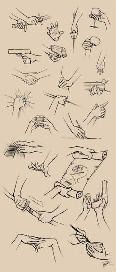How to draw hands gripping bunch of things. I love how cheese from fosters home for imaginary friends is there: