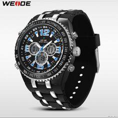Bu Pin i ve daha fazlasını milanzlamal tarafından oluşturulan Pánské  značkové hodinky Weide 1107 s duálním časem a dopravou zdarma po celé ČR  panosunda ... 73fb7f177e