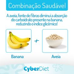 A mistura banana com aveia, além de gostosa é nutritiva! Mais dicas como essa em: https://facebook.com/cyberdietoficial