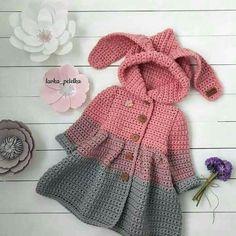 Одежда для девочек, ручной работы. Ярмарка Мастеров - ручная работа. Купить МК по вязанию детского кардигана с капюшоном (ушками). Handmade.