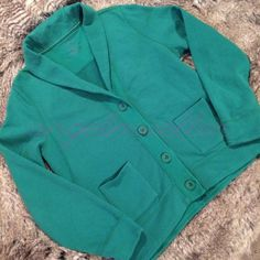 "L.L.Bean sweatshirt cardigan This L.L.Bean sweatshirt is cardigan style. 4 buttons down the front, 2 pockets on the front. More of a deep green color. Length: 25"", bust: 22"", sleeve length: 26"", perfect condition. L.L. Bean Tops Sweatshirts & Hoodies"