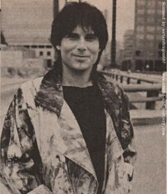 Jimi Jamison at the video shoot for 'The Search Is Over;' taken from an article in the November 1985 issue of ROCKLINE magazine, page 73