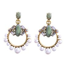Cheap big earrings for women, Buy Quality big brand earrings directly from China big earrings Suppliers: New Vintage Statement Earrings 2017 Christmas Popular Brand Design Geometric Simulated Pearls Jewelry Big Earrings for Women Pearl Stud Earrings, Circle Earrings, Pearl Jewelry, Women's Earrings, Statement Earrings, Indian Jewelry, Flower Earrings, Chunky Jewelry, Green Earrings