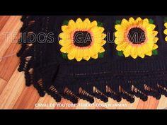 puntilla o borde # 3 para colcha tejida a crochet - YouTube
