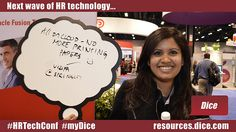"""The next wave of HR technology is...""""All on cloud - no more printing papers."""" :-) via @springcm #HRTechConf #myDice"""